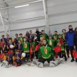 В столице России прошел первый хоккейный матч среди особенных детей.
